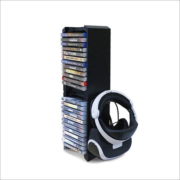 [哈GAME族]免運費 可刷卡●可放24片遊戲光碟●PS4 DOBE TP4-838 Slim Pro VR 多功能主機置物架 收納架