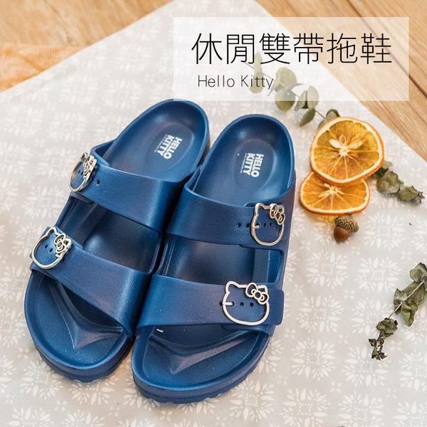 拖鞋 / 外出拖【Kitty休閒雙帶拖鞋】三麗鷗正版授權  戀家小舖台灣製CAB002