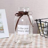 歐式簡約透明花瓶創意玻璃客廳擺件裝飾品水培插花干花花器小清新『新佰數位屋』