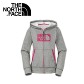 【The North Face 女童 抗UV刷毛兜帽外套《灰》】A9EE/質輕/保暖外套/帽T