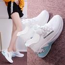運動鞋 女2021春季新款透氣網面休閒鞋軟底顯瘦跑步旅游鞋小白鞋女 8號店