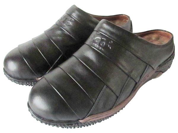 『雙惠鞋櫃』★路豹Zobr★MIT台灣製造 ★男牛皮懶人鞋 前包後空休閒拖鞋/張菲鞋 (J313A) 黑
