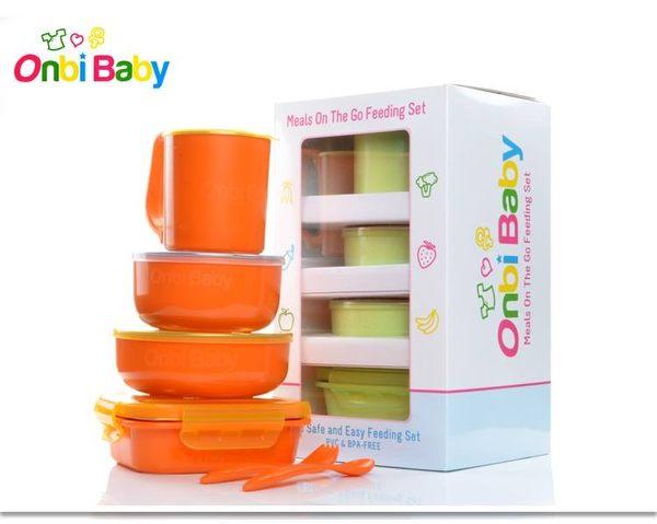 美國歐比寶貝 onbi baby不銹鋼餐具 兒童餐具(無塑化劑) 附叉匙組
