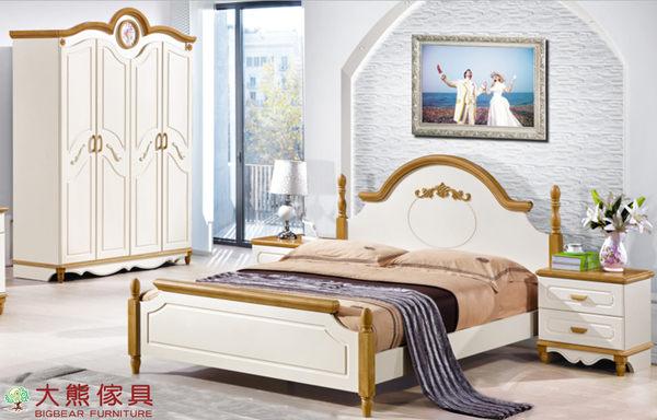 【大熊傢具】美韓系列 1511 原木色款 兒童床 單人床 北歐風 鄉村風 床台 男孩床 兒童床組