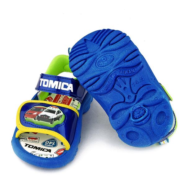 童鞋城堡-Tomica多美小汽車 中小童 LED電燈涼鞋TM3616-藍