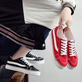 2018春夏季新款帆布鞋女鞋正韓百搭學生休閒平底黑色布鞋小白鞋板鞋【開學季任性88折】