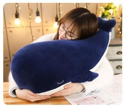 【25公分】藍鯨抱枕 深海大鯨魚 絨毛娃娃 擺飾 生日禮物 兒童節【開立發票】