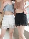 安全褲 蕾絲花邊短褲夏季薄款防走光三分打底褲女 此商品不接受退貨或退換