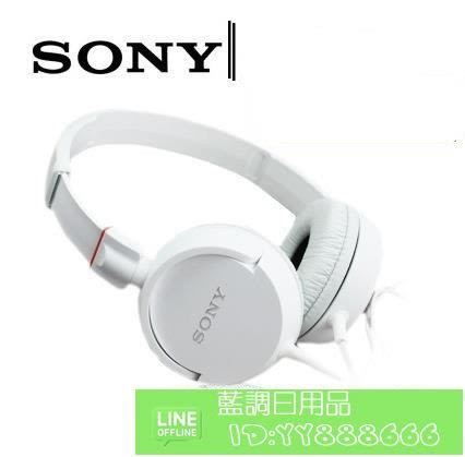 Sony/索尼 MDR-ZX100耳機 重低音監聽音樂折疊手機電腦耳機頭戴式 便攜折疊
