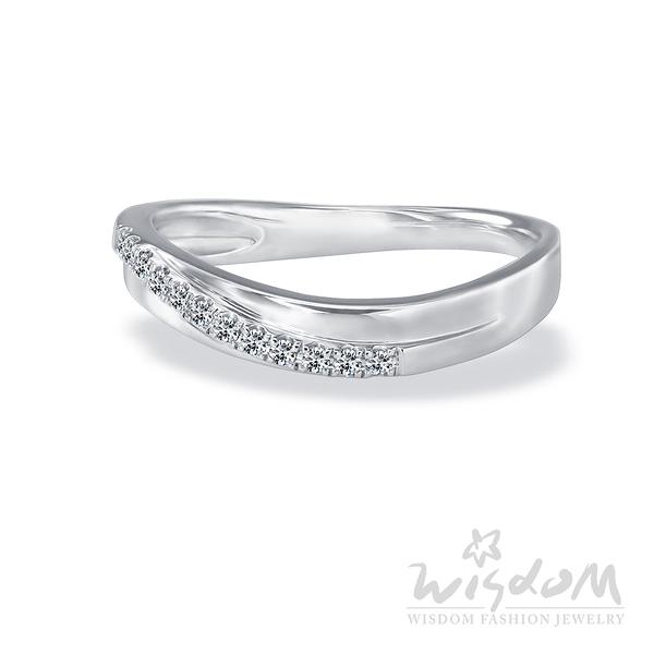 威世登 愛成雙-K金鑽石戒指-女戒 婚戒推薦 情人節禮物 DA03082G-AGGXX