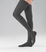 醫療彈性襪 海伸-大腿(原絲-黑色)無露趾 140DEN(18-22mm/Hg)