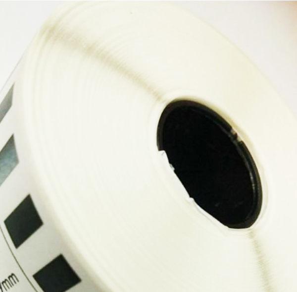 DK-22243 副廠連續標籤帶 (白底黑字) 102mm x 30.48M 塑芯 DK22243 不含支架