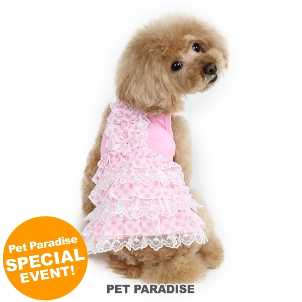 【PET PARADISE 寵物精品】Pretty Boutique 粉紅蕾絲蛋糕裙 (SS/DS) 寵物用品 寵物衣服《SALE》