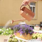 園藝澆花壺樹脂 蔬果多肉花卉灑水噴水壺花園澆水壺帶花灑 繽紛創意家居