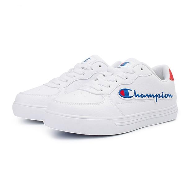 9S-Champion C-YESS 經典小白鞋女鞋 WSUS-0001-03 白紅