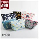化妝包-甜美圖紋雙環化妝包-共6色-A01010165-天藍小舖