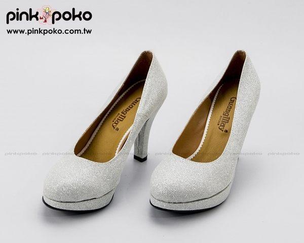 跟鞋 ☆PINKPOKO粉紅波可☆典雅基本款OL上班素色細跟高跟鞋 圓頭包鞋~6色 #5593