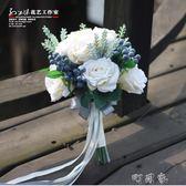 孫小妹花藝P247道具花韓式手捧花束森系結婚新娘手捧花 仿真 婚禮 盯目家~