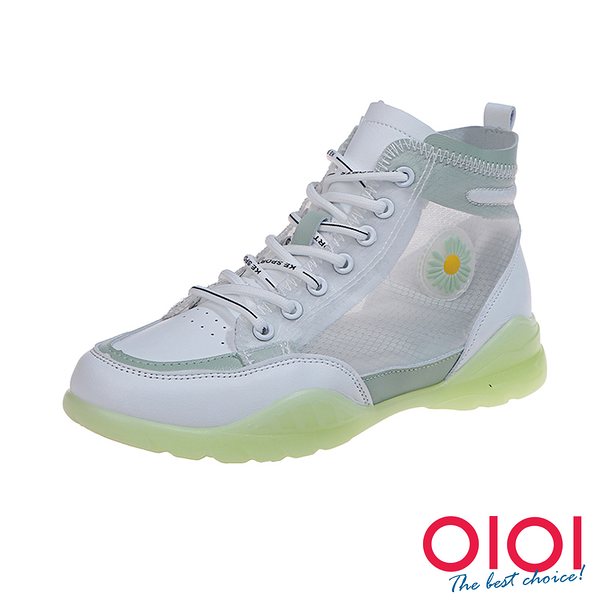 休閒鞋 小清新網紗綁帶厚底鞋(綠)*0101shoes【18-L1gen】【現貨】