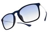 RAY BAN 太陽眼鏡 RB4187F 631719 (藍銀-漸層棕鏡片) 人氣經典流行款 墨鏡 # 眼鏡品牌 # 金橘眼鏡