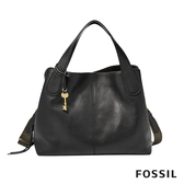 FOSSIL MAYA 柔軟真皮多夾層手提/側背兩用包-黑色 ZB7566001