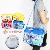 〖LifeTime〗﹝迪士尼方型肩背保溫便當袋﹞正版手提帆布便當袋 保冷保熱收納袋 野餐袋 B19102