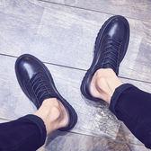 男鞋秋季男韓版潮流厚底圓頭皮靴馬丁鞋子