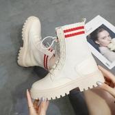 馬丁靴 英倫風女夏季新款彈力薄款百搭復古單靴網紅機車靴 - 古梵希