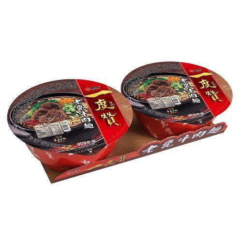 維力一度贊-老甕牛肉麵185g x2碗【愛買】