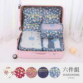 防水衣物分類收納袋六件組/ 衣櫃控-WardrobE / CW041