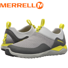 【MERRELL 美國 男款 ISIX8 MESH MOC 健行鞋《淺灰/黃》】ML91357/休閒鞋/健行/運動鞋★滿額送