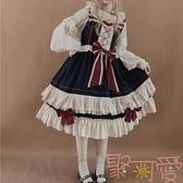Lolita洋裝初戀白雪姬日常jsk重工洛麗塔吊帶連身裙【聚可愛】