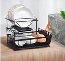 瀝水架 碗架瀝水架北歐廚房雙層置物架碗碟架晾放盤子杯子用品碗筷收納盒 【夏日新品】