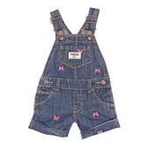 OSHKOSH 牛仔吊帶短褲 深藍蝴蝶 | 女寶寶吊帶褲裝(嬰幼兒/兒童/小孩)
