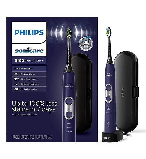 Philips【美國代購】飛利浦 電動牙刷Sonicare ProtectiveClean 6100 HX6471/03 - 紫色
