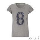 德國進口品牌-oui 灰色亮片8短袖T恤...