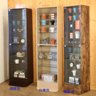 MIT《百嘉美》低甲醛強化玻璃直立式180cm展示櫃/公仔櫃/書櫃/收納櫃/玻璃櫃(三色可選) B-CH-BO034