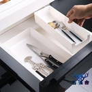 抽屜整理廚房分隔收納盒餐具隔分類整理盒【古怪舍】