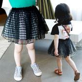女童網紗裙半身裙夏裝2018新款韓版小女孩短裙寶寶公主裙兒童裙子 晴天時尚館