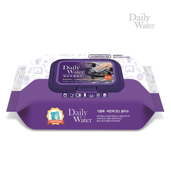 Daily Water 韓國拋棄式雙面菜瓜布濕紙巾 (浴廁用)