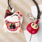 Kiro貓‧招財貓 立體造型 掛繩 手鉤鑰匙圈吊飾/包包掛飾【222819】