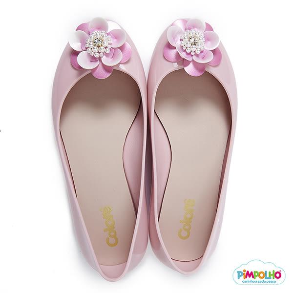 PIMPOLHO 立體小花娃娃鞋-童-珠光粉