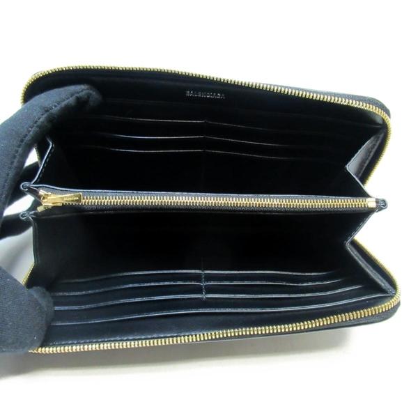 BALENCIAGA 巴黎世家 黑色牛皮長夾 Cash Continental Wallet 594280 【BRAND OFF】