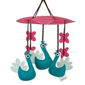 加拿大 3 Sprouts 轉轉吊飾-土耳其藍孔雀[衛立兒生活館]
