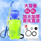 噴水壺5L8L手動壓力噴霧器高壓洗車壺園藝澆花農藥消毒大容量噴壺QM 向日葵