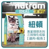 【力奇】Nutram 紐頓 專業理想系列-I19三效強化-雞肉鮭魚1.8kg 超取限2包 (A092D29)
