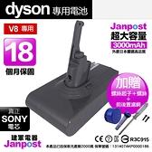 送前後置濾網 Janpost dyson v8系列 副廠電池維修 保固18個月 使用時間長達40分鐘 BSMI認證 SONY電芯