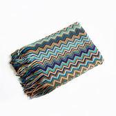 波西米亞印第安針織毛毯裝飾毯民族風沙發搭毯樣板房新居裝修搭配