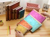 記事本金谷復古風西雅圖大號筆記本大學生用隨身精美加厚簡約硬面小號