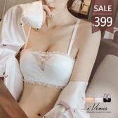 內衣-娜塔塔女爵(僅上身)-iVenus 法式平口抹胸蕾絲爆乳交叉美背無鋼圈內衣 玩美維納斯 30-38ABC